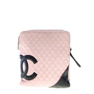 CHANEL康鹏粉色单肩包