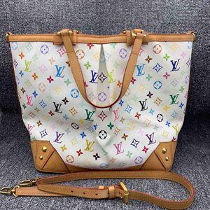 Louis Vuitton路易·威登白三彩手提包