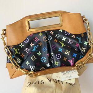 Louis Vuitton 路易·威登女士黑三彩judy手提包