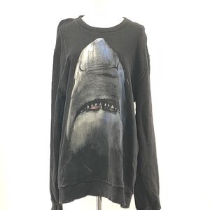 GIVENCHY 纪梵希鲨鱼头图案黑色卫衣