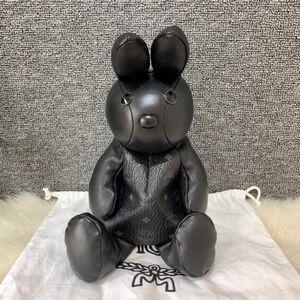 MCM 兔子包双肩包黑色单肩斜挎包