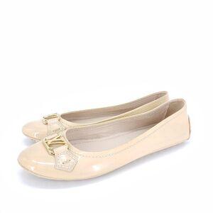 Louis Vuitton 路易·威登奶黄色女士平底鞋
