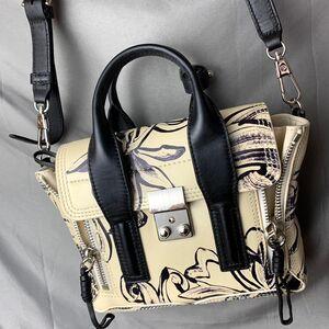 Phillip Lim菲利林3.1女士单肩包手提包限量款印花朵全皮包