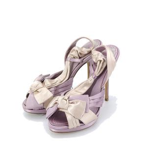 Dior 迪奥香芋紫拼色高跟鞋