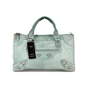 Balenciaga 巴黎世家薄荷绿机车手提包