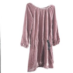 Burberry 博柏利薄绒绛紫儿童连衣裙