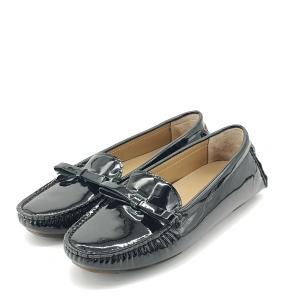 BALLY 巴利黑色漆皮平底鞋
