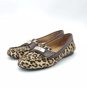 COACH 蔻驰豹纹平底鞋