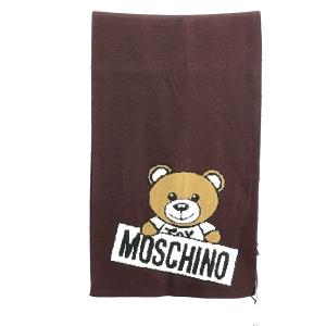 Moschino 莫斯奇诺棕色小熊围巾