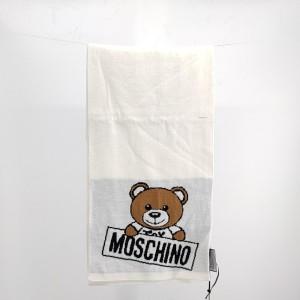 Moschino 莫斯奇诺小熊白色围巾