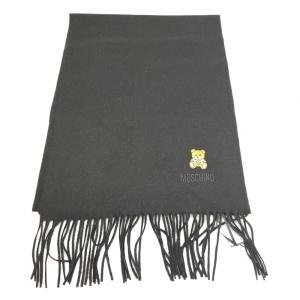 Moschino 莫斯奇诺黑色小熊围巾