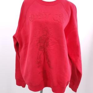 Louis Vuitton  路易·威登红色刺绣薄绒卫衣