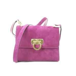 Ferragamo 菲拉格慕高级紫色绒面单肩包