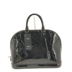Louis Vuitton 路易·威登黑色漆皮老花手提包