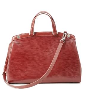 Louis Vuitton 路易·威登红色epi水波纹医生手提单肩包
