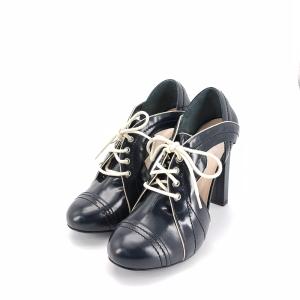 BALLY 巴利黑色系带高跟鞋