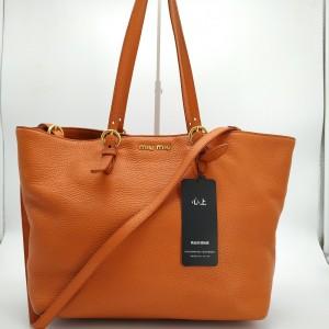 Miu Miu 缪缪 橙色 单肩手提包