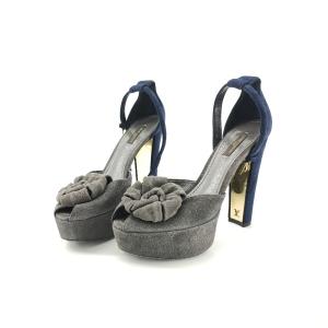 Louis Vuitton 路易·威登翻毛38码高跟鞋