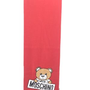 Moschino 莫斯奇诺红色小熊围巾