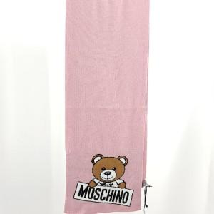 Moschino 莫斯奇诺粉色小熊围巾