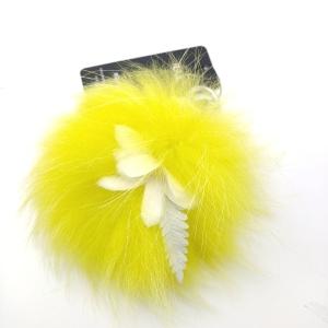 FENDI 芬迪嫩黄色毛球挂饰