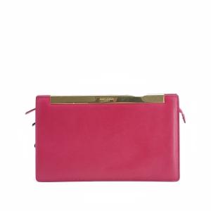Yves Saint Laurent 伊夫·圣罗兰玫红色手拿包