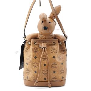 MCM 小熊水桶单肩包