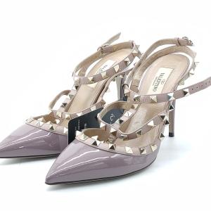 Valentino 华伦天奴香芋紫色铆钉高跟鞋