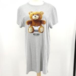 Moschino 莫斯奇诺灰色小熊连衣裙