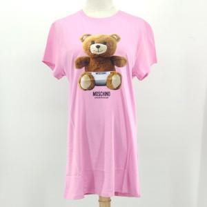 Moschino 莫斯奇诺粉色小熊连衣裙