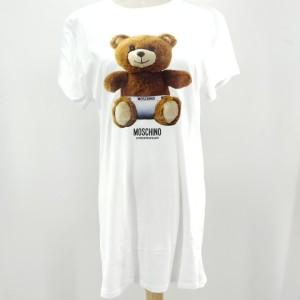 Moschino 莫斯奇诺白色小熊连衣裙