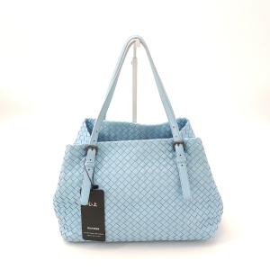 Bottega Veneta 葆蝶家淡蓝色编织手提包