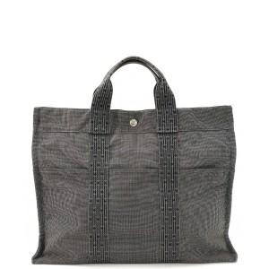 Hermès 爱马仕帆布手提包