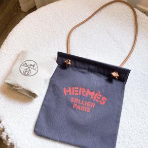 Hermès爱马仕网红爆款帆布单肩包
