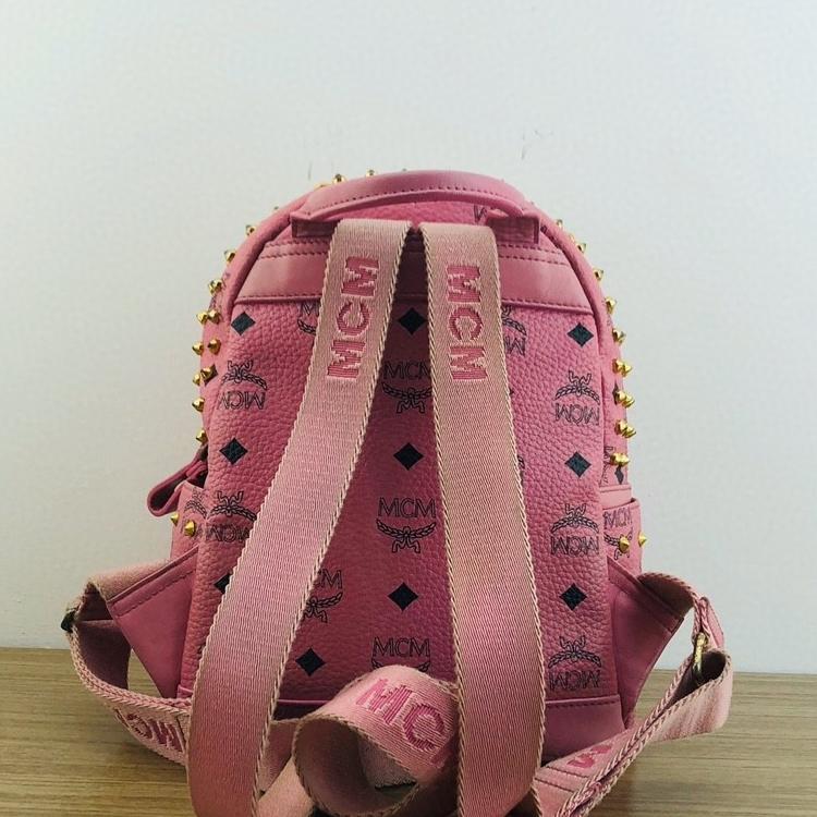 MCM 粉色女士双肩包