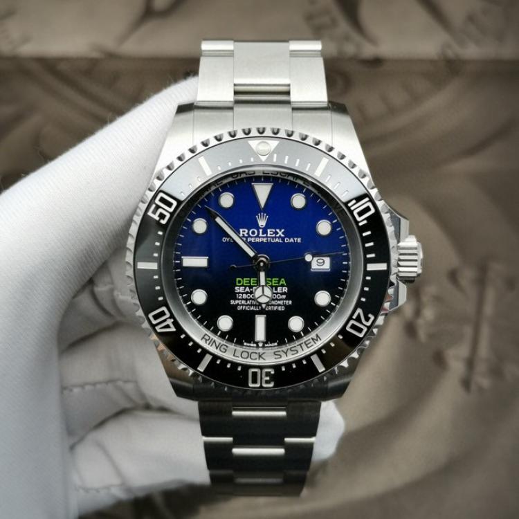 Rolex劳力士渐变蓝鬼王男士机械表