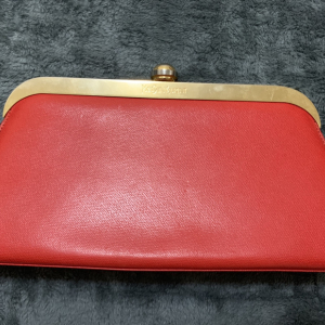 Yves Saint Laurent伊夫·圣罗兰 女士红色全皮手包/手拿包