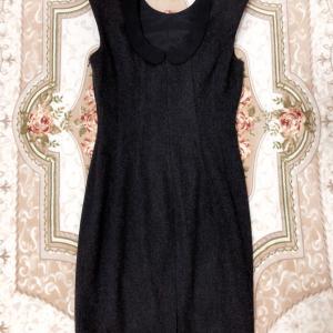 Miu Miu缪缪女士黑色羊毛连衣裙