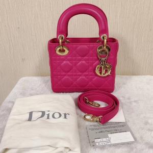 Dior戴妃三格金扣包