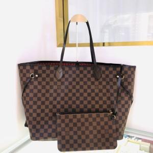 Louis Vuitton 路易·威登大号NF子母棕色棋盘格购物袋手提包