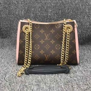 Louis Vuitton老花手袋斜挎双链条女包