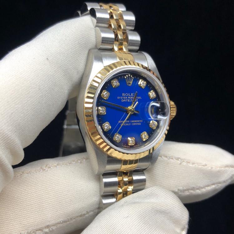Rolex劳力士日志型69173蓝盘女士机械表