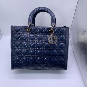 Dior迪奥漆皮戴妃手提包