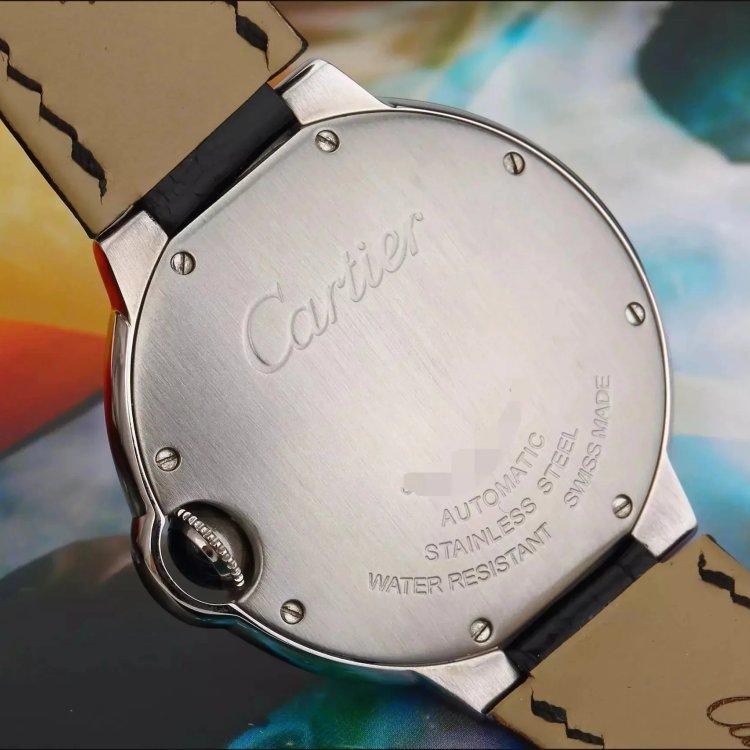 15年 原始品相卡地亚蓝气球系列精钢后镶钻自动机械中性表