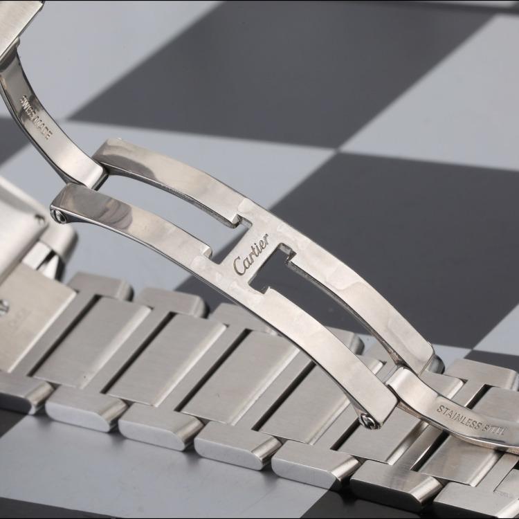 卡地亚坦克系列精钢自动机械男表 腕周180mm