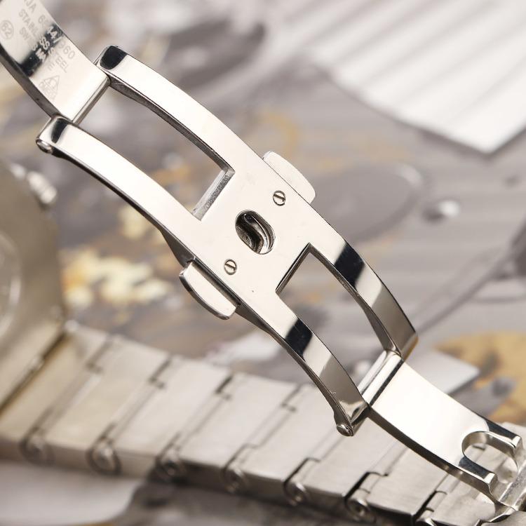 欧米茄星座系列精钢原镶时标钻石英女表 腕周160mm