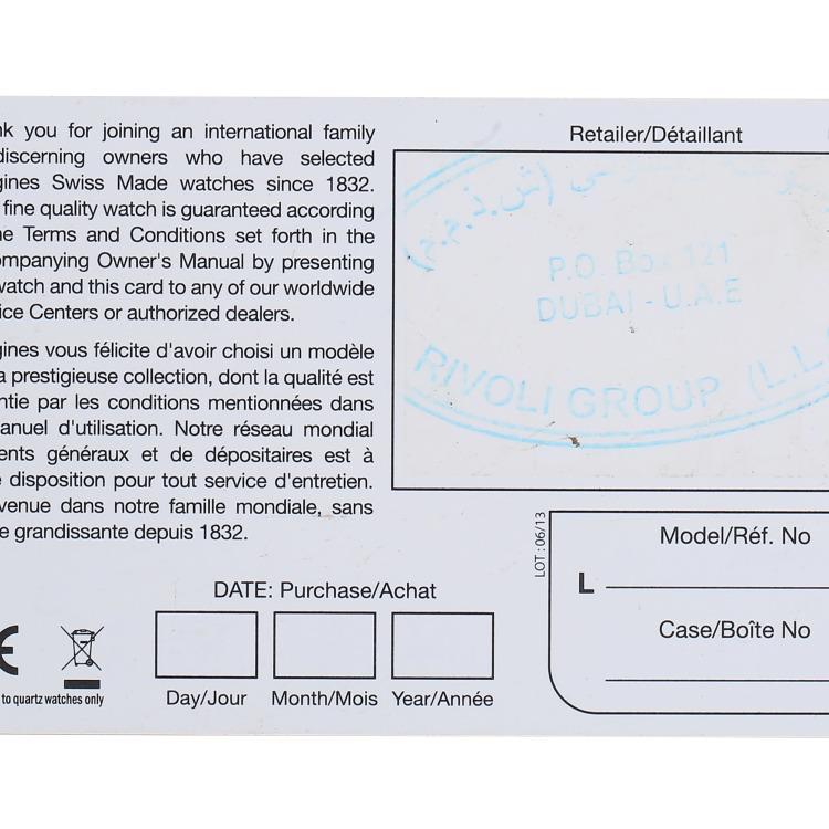 浪琴康铂系列18K玫瑰金自动机械男表