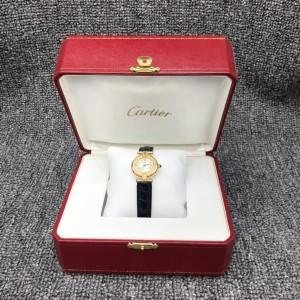 Cartier卡地亚后镶钻女士腕表 石英机芯