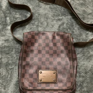 Louis Vuitton中性款棋盘格斜挎包单肩包