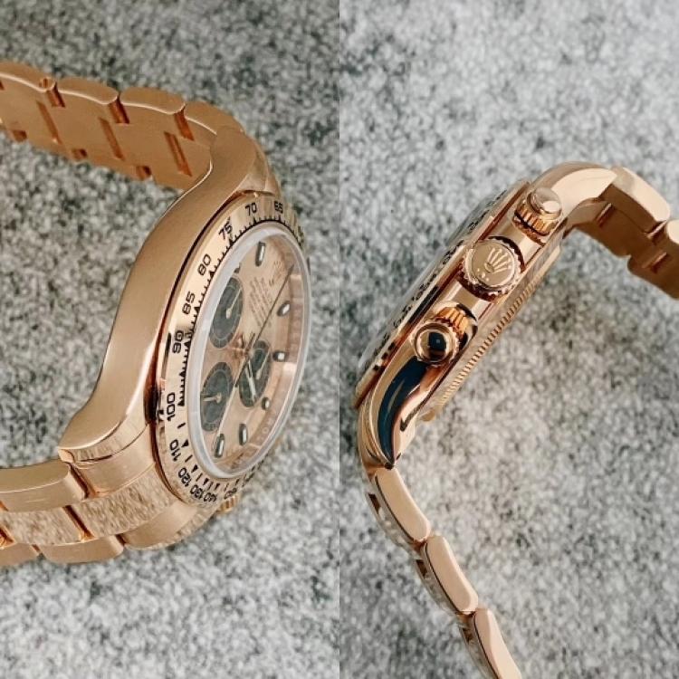 Rolex男士玫瑰金迪通拿机械表